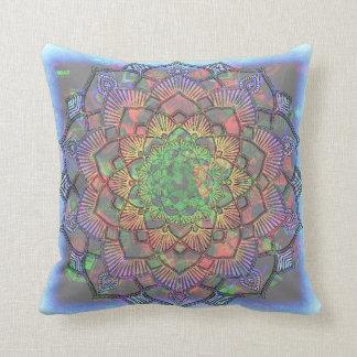 Cojín Decorativo Mandala multicolora de la acuarela de la