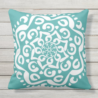 Cojín Decorativo Mandala Spruce azul