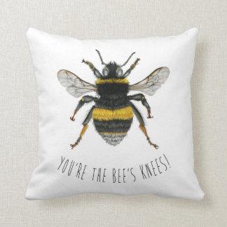 Cojín Decorativo Manosee el amortiguador del tiro de la abeja -