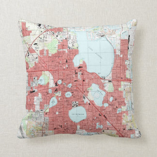 Cojín Decorativo Mapa de Lakeland la Florida (1994)