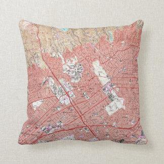 Cojín Decorativo Mapa del vintage de Beverly Hills California