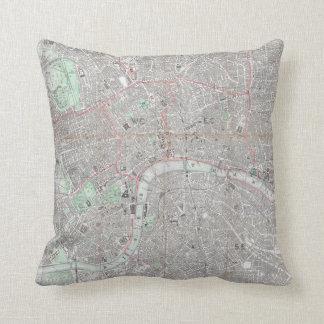 Cojín Decorativo Mapa del vintage de la ciudad de Londres