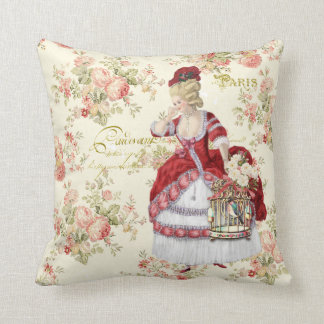 Cojín Decorativo Marie Antoinette Beige Floral Pillow クッション
