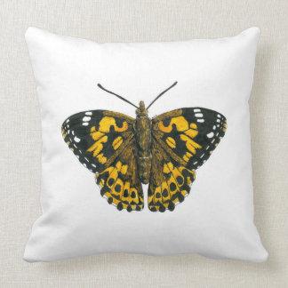 Cojín Decorativo Mariposa pintada de la señora