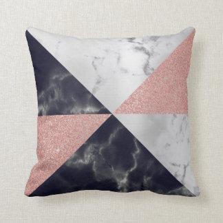 Cojín Decorativo Mármol geométrico de los triángulos grises del