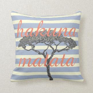 Cojín Decorativo ¡Matata de Hakuna! Relaje la decoración del hogar
