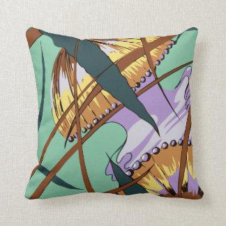 Cojín Decorativo Medusas, art déco abstracto moderno