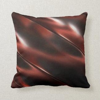 Cojín Decorativo Metal rojizo metálico brillante abstracto