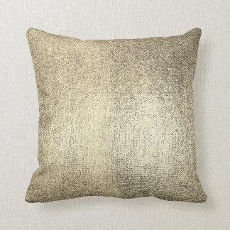 Cojín Decorativo Metálicos brillantes de marfil del oro más astuto