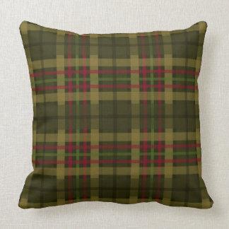 Cojín Decorativo Mezcla y partido rústicos de la tela escocesa el |
