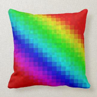 Cojín Decorativo Modelo de las tejas de mosaico del arco iris,