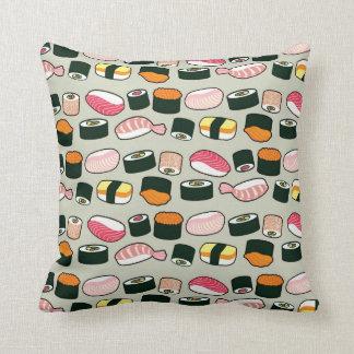 Cojín Decorativo Modelo de los ejemplos de la diversión del sushi