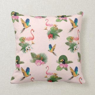 Cojín Decorativo Modelo de los pájaros y de las hojas de la palmera