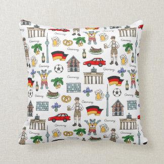 Cojín Decorativo Modelo de los símbolos de Alemania el |