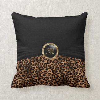 Cojín Decorativo Modelo del animal del leopardo de Brown del