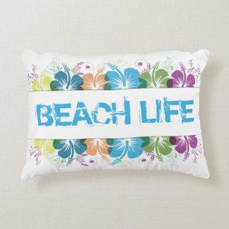 Cojín Decorativo Modelo del hibisco de la vida de la playa