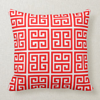 Cojín Decorativo Modelo dominante griego rojo elegante de moda