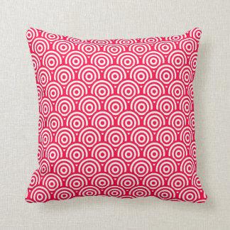 Cojín Decorativo Modelo geométrico rojo/del rosa y blanco del