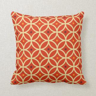 Cojín Decorativo Modelo inconsútil abstracto anaranjado de los años