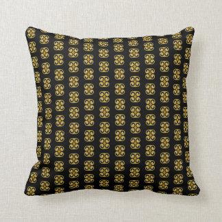 Cojín Decorativo Modelo negro amarillo real elegante