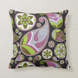 Cojín Decorativo Modelo púrpura de Paisley
