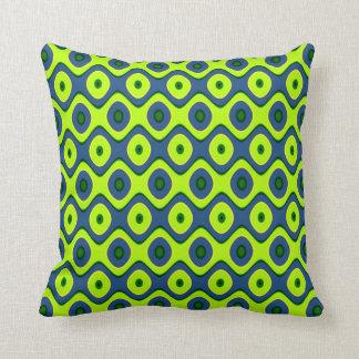 Cojín Decorativo Modelo retro colorido azul y verde amarillo