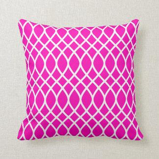 Cojín Decorativo Modelo rosado de neón del enrejado