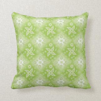 Cojín Decorativo Modelo verde del verano de Paisley