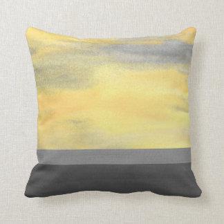 Cojín Decorativo Moderno abstracto gris amarillo
