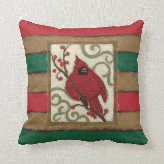 Cojín Decorativo Monograma del cardenal del navidad