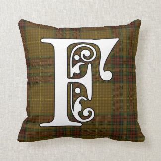 Cojín Decorativo Monograma del tartán del clan de Finnegan
