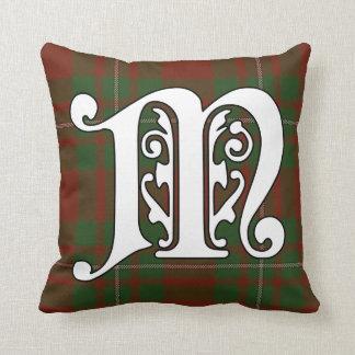Cojín Decorativo Monograma del tartán del clan de MacGregor
