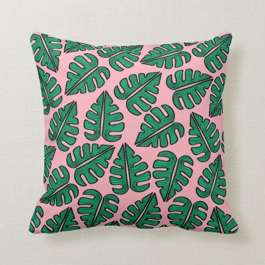 Cojín Decorativo Monstera Leaf Pillow