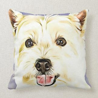Cojín Decorativo Montaña Terrier blanco del oeste, Westie, perro,