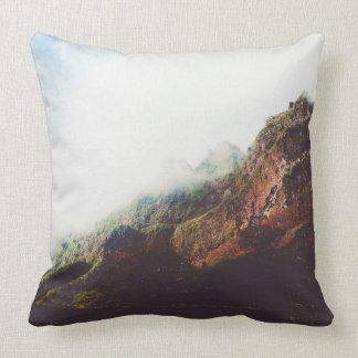 Cojín Decorativo Montañas, escena de relajación del paisaje de la