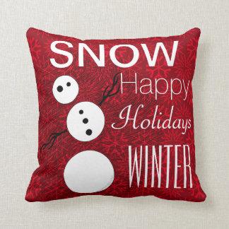 Cojín Decorativo Muñeco de nieve blanco y negro de Z en día de