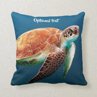 Cojín Decorativo Natación hermosa de la tortuga de mar