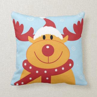 Cojín Decorativo navidad, alegría colorida, roja de los colores