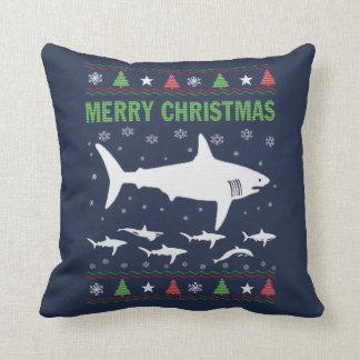 Cojín Decorativo Navidad del tiburón