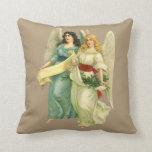 Cojín Decorativo Navidad del vintage, ángeles angelicales del