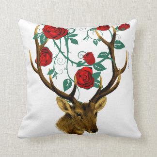 Cojín Decorativo Navidad del vintage de las vides de los rosas de