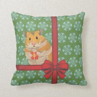 Cojín Decorativo Navidad Hammy del hámster del navidad