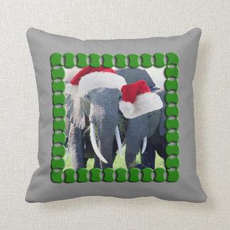 Cojín Decorativo Navidad inolvidable del elefante