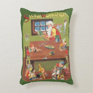 Cojín Decorativo Navidad Santa del vintage con los duendes en el