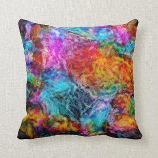 Cojín Decorativo Nebulosa abstracta de la lava del arco iris