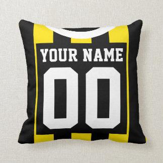 Cojín Decorativo Negro del estilo del jersey de los deportes y