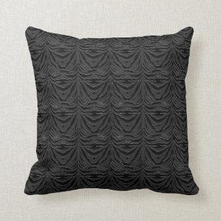 Cojín Decorativo Negro en rayas negras de la cebra