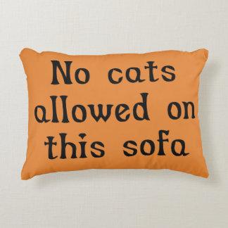 Cojín Decorativo Ningunos gatos permitidos en este sofá