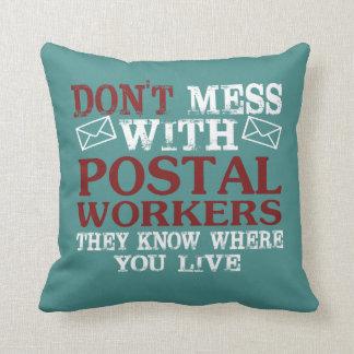Cojín Decorativo No ensucie al empleado de correos