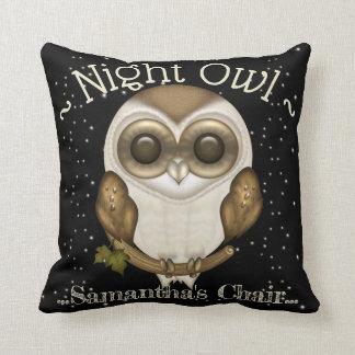 Cojín Decorativo Noctámbulo lindo - lechuza común del bebé